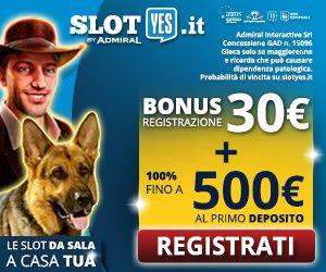Slotyes Bonus esclusivo