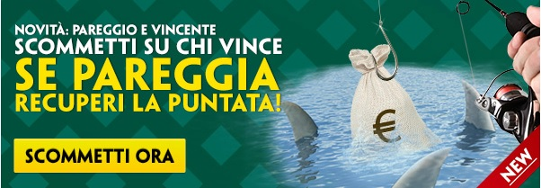 Paddy Power Pareggio e Vincente